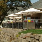 Lenape Heights Bar & Grill Dining Room Outdoor Patio with Umbrellas