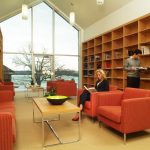 Foyer Library at Lenape Heights