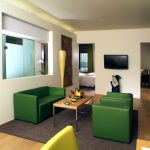 Living area at Lenape Heights Suite